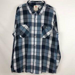 Levi's Strauss & Co Men's Plaid Cowboy Shirt XL